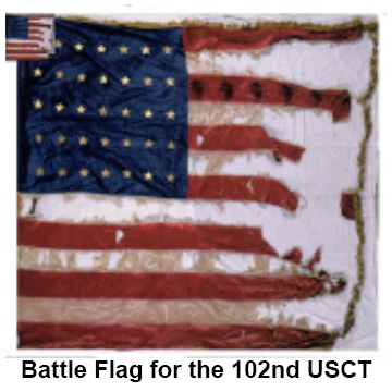 Battle Flag for the 102nd USCT