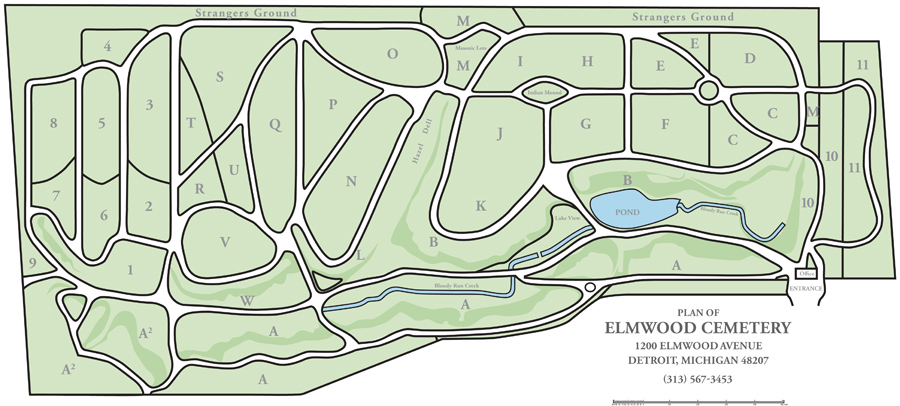 Elmwood Cemetery Map2012