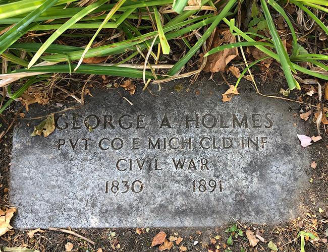 George A Holmes Memorial Elmwood IMG 7707web