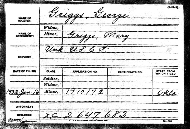 George H Griggs USCT Military Paper Elmwood web