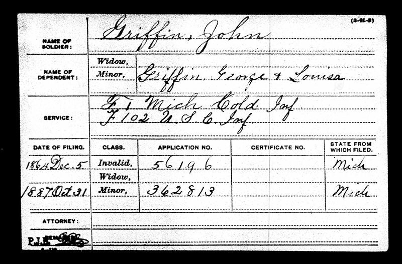 John Griffin USCT Military Paper Elmwood