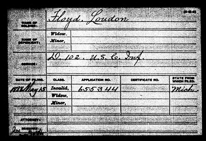 London Floyd USCT Military Paper Elmwood web