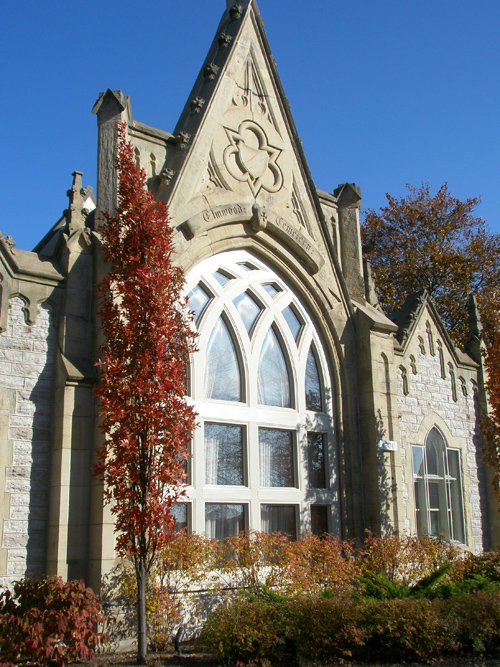 elmwood cemetery gatehouse fall